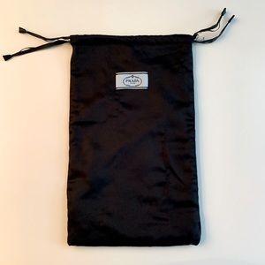 PRADA drawstring dust bag for shoe fleece lined